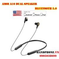 Tai nghe Bluetooth 5.0 Amoi A10 Dual Speaker