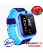 Điện thoại đồng hồ định vị chống nước Q12 màu xanh cho trẻ em