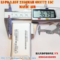 Pin Li-Po 3.8V 2350mAh 693772 Dòng xả cao 15C (Lithium Polymer) cho DJI Mavic Air Flycam