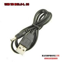 Cáp sạc USB ra chân tròn DC3.5*1.35mm