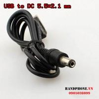 Cáp sạc USB ra chân tròn DC5.5*2.1mm