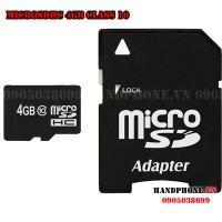 Thẻ nhớ MicroSDHC 4GB Class 10