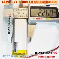 Pin Li-Po 3.7V 1100mAh 902360 932360 (Lithium Polymer)