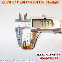Pin Li-Po 3.7V 150mAh 401730 381730 (Lithium Polymer)