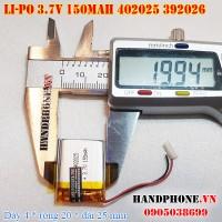 Pin Li-Po 3.7V 150mAh 402025 392026 (Lithium Polymer)