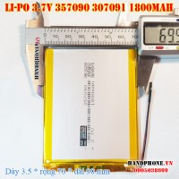 Pin Li-Po 3.7V 1800mAh 357090 307091 (Lithium Polymer)