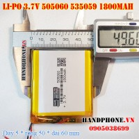 Pin Li-Po 3.7V 1800mAh 505060 535059 (Lithium Polymer)