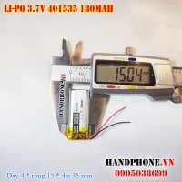 Pin Li-Po 3.7V 180mAh 401535 (Lithium Polymer)
