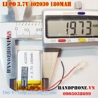 Pin Li-Po 3.7V 180mAh 402030 (Lithium Polymer)