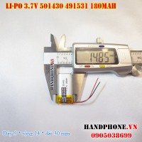 Pin Li-Po 3.7V 180mAh 501430 501530 (Lithium Polymer)