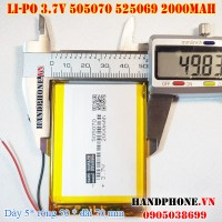 Pin Li-Po 3.7V 2000mAh 505070 525069 (Lithium Polymer)