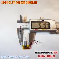 Pin Li-Po 3.7V 200mAh 501535 491535 (Lithium Polymer)