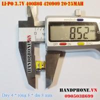 Pin Li-Po 3.7V 400808 420909 20/25mAh cho tai nghe Bluetooth