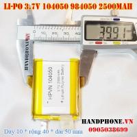 Pin Li-Po 3.7V 2500mAh 104050 984050 (Lithium Polymer)