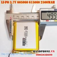 Pin Li-Po 3.7V 2500mAh 605060 615060 (Lithium Polymer)