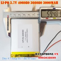 Pin Li-Po 3.7V 3000mAh 406080 366080 (Lithium Polymer)