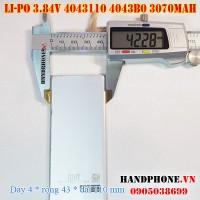 Pin Li-Po 3.84V 3070mAh 4043110 4043B0 (Lithium Polymer)