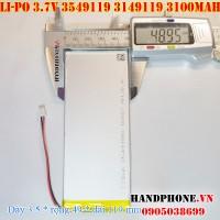 Pin Li-Po 3.7V 3100mAh 3549119 3150120 (Lithium Polymer)