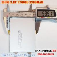 Pin Li-Po 3.8V 3360mAh 376080 (Lithium Polymer)