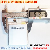 Pin Li-Po 3.7V 685257 3500mAh (Lithium Polymer)