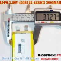 Pin Li-Po 3.7V 3605mAh 4538122 4538C2 (Lithium Polymer)