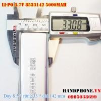 Pin Li-Po 3.7V 5000mAh 8533142 (Lithium Polymer)