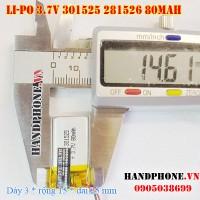Pin Li-Po 3.7V 80mAh 301525 281526 (Lithium Polymer)
