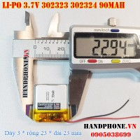 Pin Li-Po 3.7V 302323 302324 90mAh (Lithium Polymer)