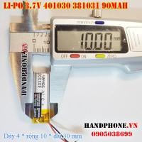 Pin Li-Po 3.7V 90mAh 401030 381031 (Lithium Polymer)