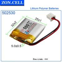 Pin Li-Po ZonCell 3.7V 500mAh 502530