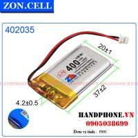 Pin Li-Po ZonCell 3.7V 400mAh 402035