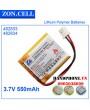 Pin Li-Po ZonCell 3.7V 550mAh 482833
