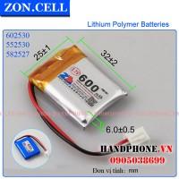 Pin Li-Po ZonCell 3.7V 600mAh 602530 552530
