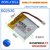 Pin Li-Po ZonCell 3.7V 500mAh 602530