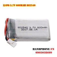 Pin Li-Po 3.7V 600mAh 802540 dòng xả cao 25C