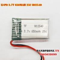 Pin Li-Po 3.7V 650mAh 802540 dòng xả cao 25C