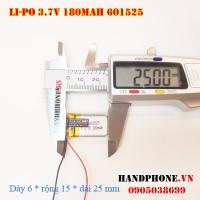 Pin Li-Po 3.7V 180mAh 601525 (Lithium Polymer)