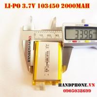 Pin Li-Po 3.7V 103450 103550 2000mAh (Lithium Polymer)