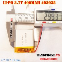 Pin Li-Po 3.7V 400mAh 403035 (Lithium Polymer)