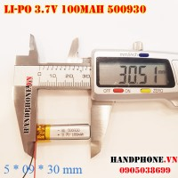 Pin Li-Po 3.7V 100mAh 500930 (Lithium Polymer)