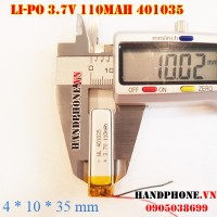 Pin Li-Po 3.7V 401035 110mAh cho tai nghe Bluetooth