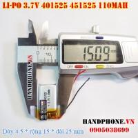 Pin Li-Po 3.7V 401525 451525 110mAh (Lithium Polymer)