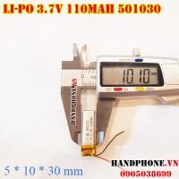 Pin Li-Po 3.7V 501030 110mAh cho tai nghe Bluetooth