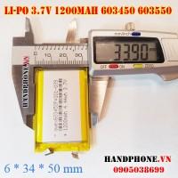 Pin Li-Po 3.7V 1200mAh 603450 603550 (Lithium Polymer)
