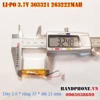 Pin Li-Po 3.7V siêu mỏng 303321 263322 145mAh
