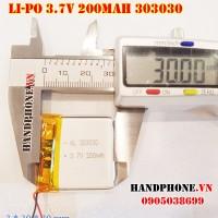 Pin Li-Po 3.7V 200mAh 303030 (Lithium Polymer)
