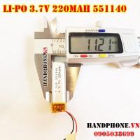 Pin Li-Po 3.7V 551140 220mAh