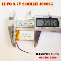 Pin Li-Po 3.7V 402035 240mah
