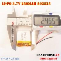 Pin Li-Po 3.7V 250mAh 502525 (Lithium Polymer)