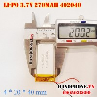 Pin Li-Po 3.7V 270mAh 402040